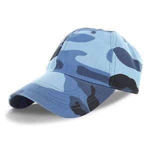 Blue Camo Print Dad Hat